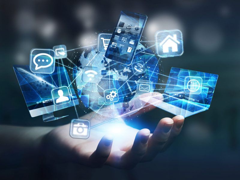 tech-devices-and-icons-connected-to-digital-planet-earth